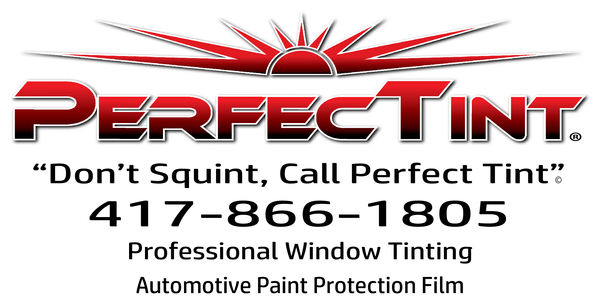 Perfect Tint Full Business Card Size Ad